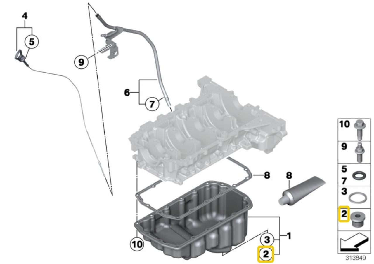 Seal Gasket for exhaust manifold Fits BMW X5 E67 E66 E65 E60 E39 E38 E34 1992