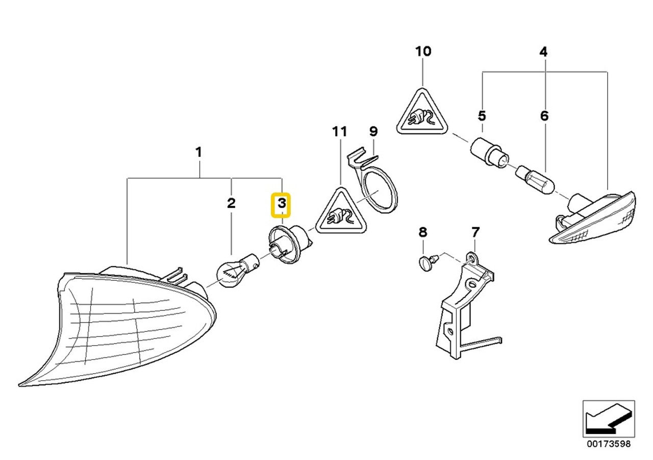 Genuine BMW Turn Signal  Bulb Socket E90 E91 F30 F31 3 Series