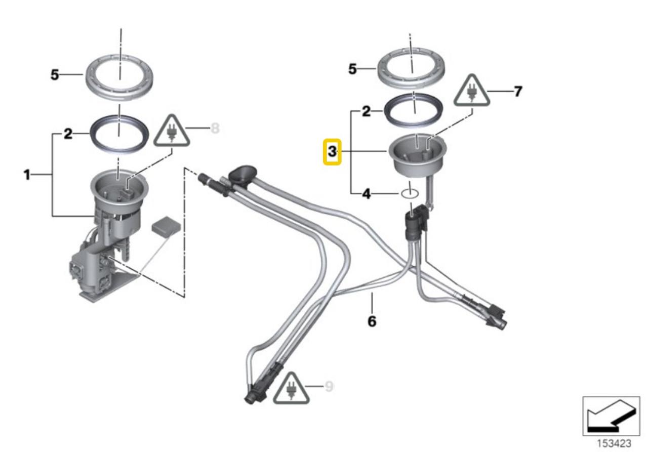 For BMW E38 E39 540i 740i Set Of 4 Intake Cover Trim Cap Locking Pins Genuine