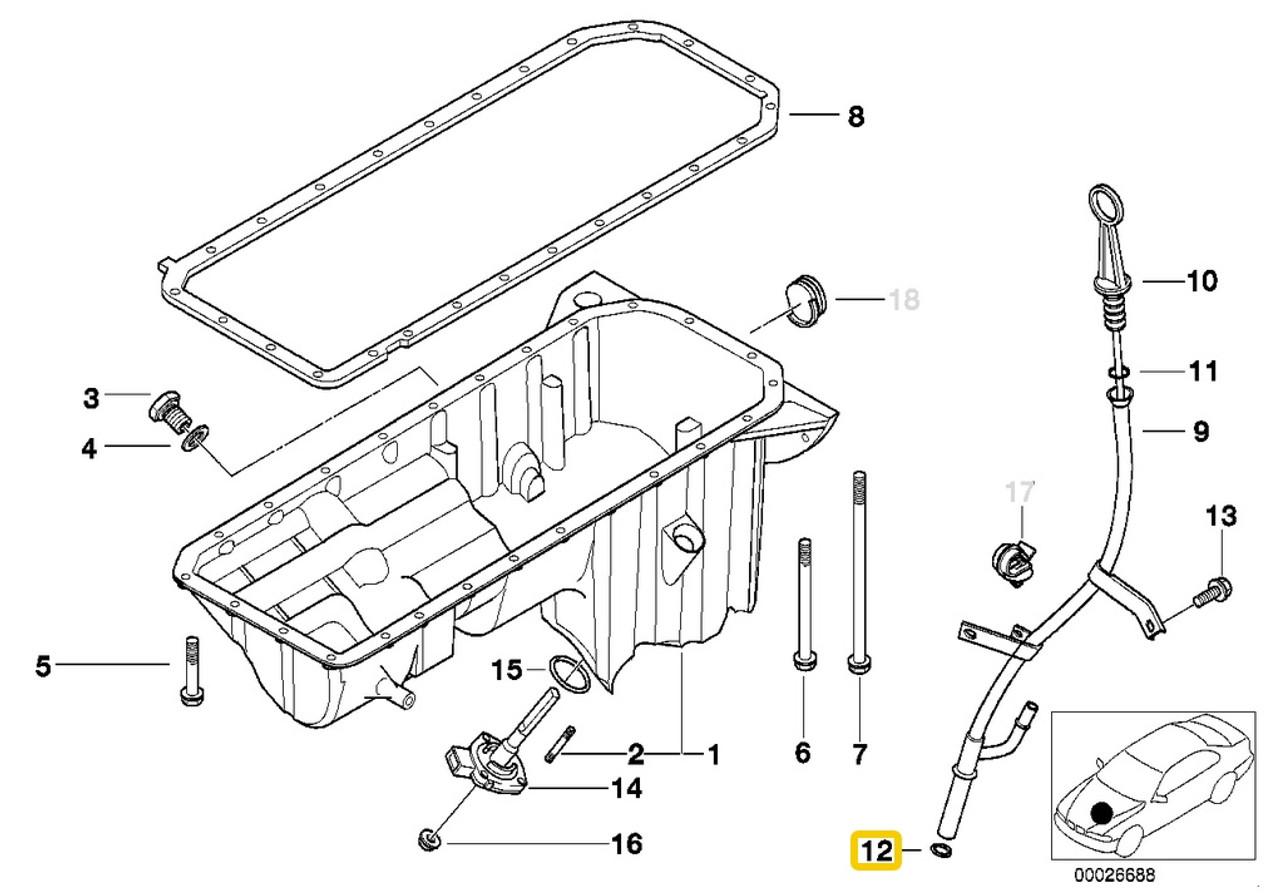 Details about  /Genuine BMW E34 E36 E38 E39 E46 E60 E85 Oil Spraying Nozzle OEM 11421748199