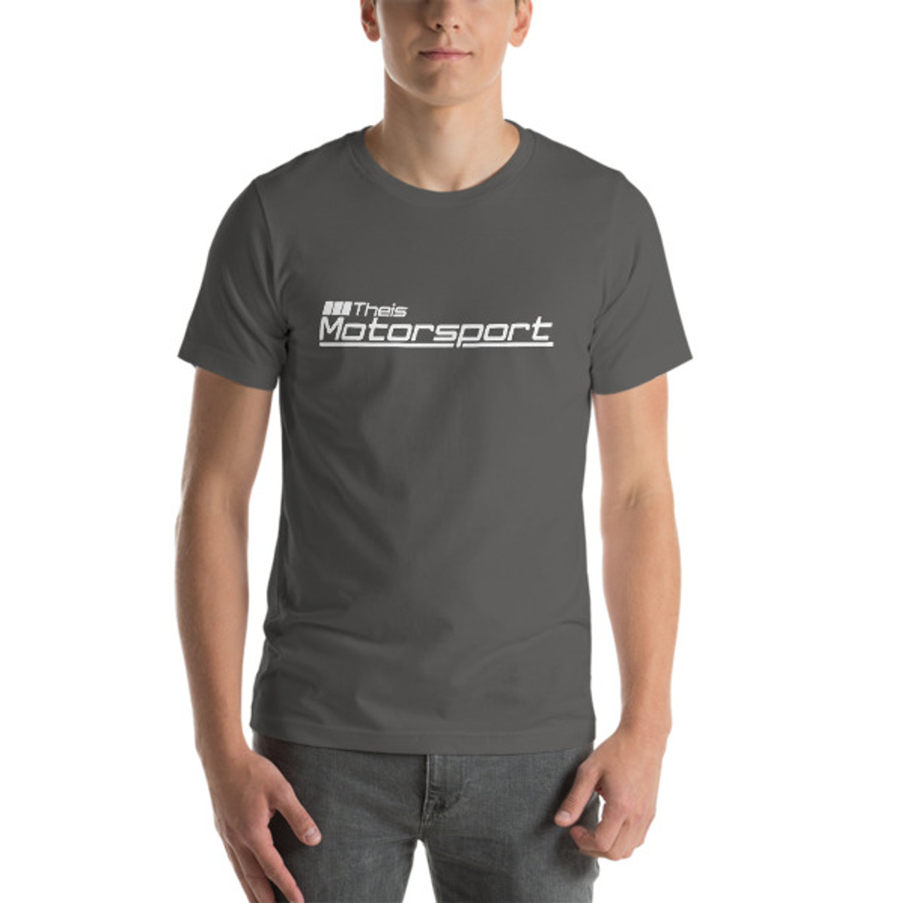 Theis Motorsport Unisex Short Sleeve Jersey T-Shirt with Tear Away Label
