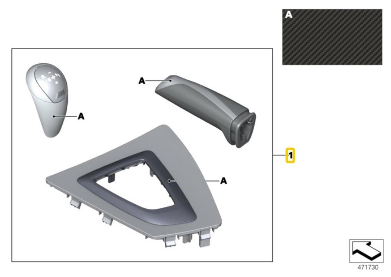 Genuine BMW Interior Equip.kit Carbon / Alcantara