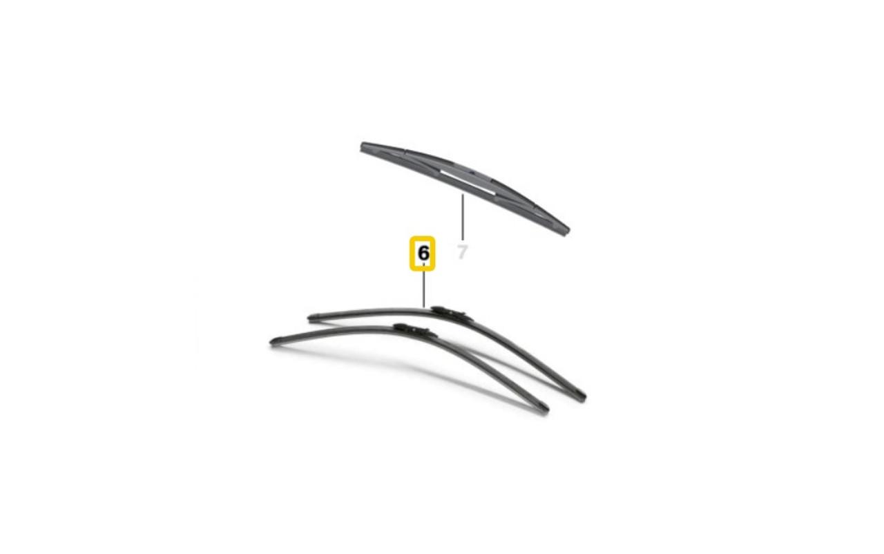 Genuine BMW Windshield Wiper Blade Set e92 e93 - Genuine OEM BMW 61612455440