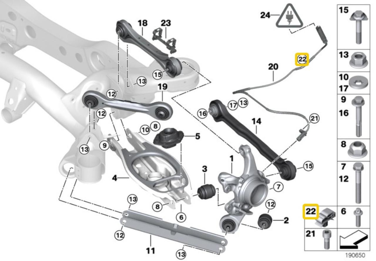 Genuine BMW Sensor Clip - Priced Each