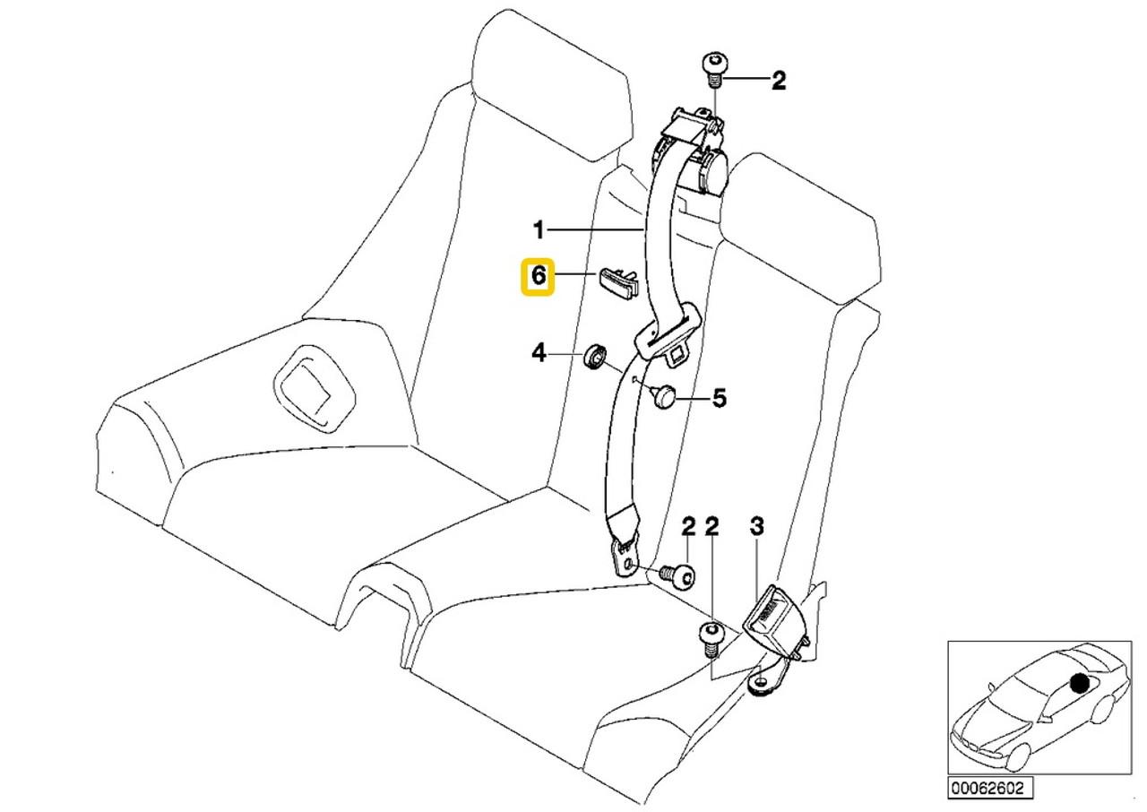 Genuine BMW Rear Seat Belt Guide 52107009662