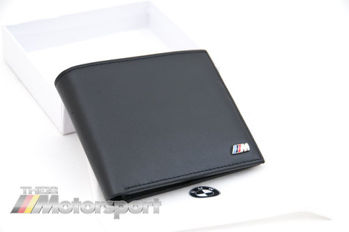 BMW ///M Power Black Leather Bifold Wallet