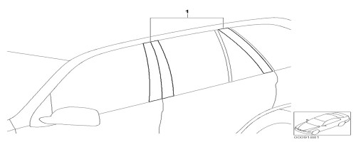 BMW Carbon Fiber-Look Door Pillar Accents for X6