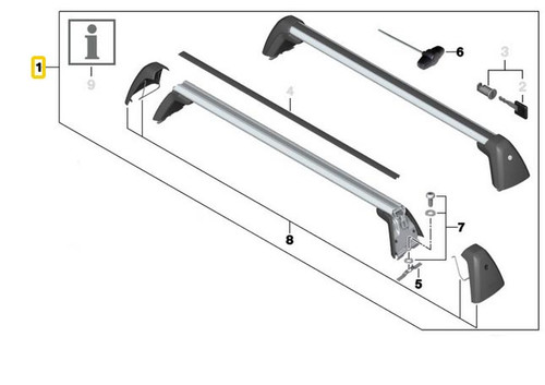 BMW Roof Rack Bars Railing Carrier for 3 Series