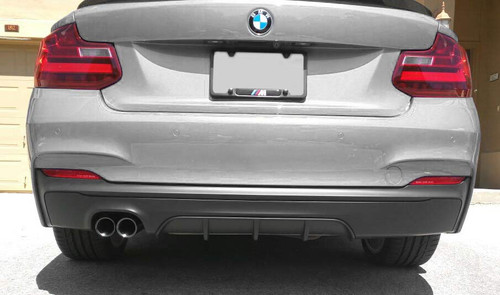 BMW M Performance Matte Black Rear Diffuser for 228i, 228ix