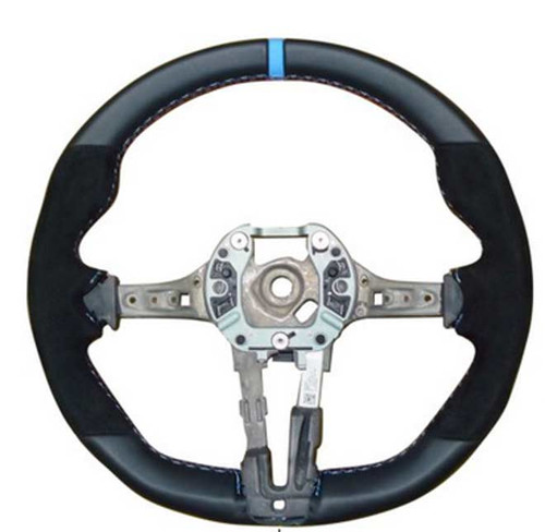 BMW M Performance Steering Wheel, Alcantara w BLUE Stripe, M2 Coupe