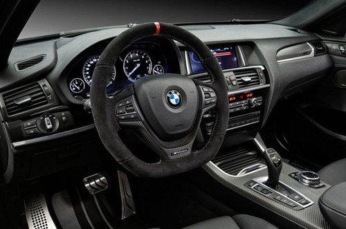 BMW Performance Alcantara & Carbon Fiber Steering Wheel, no shift paddles