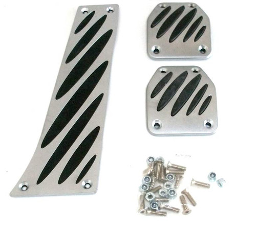 BMW Aluminum Pedal Pad Overlay Set for Manual Transmission