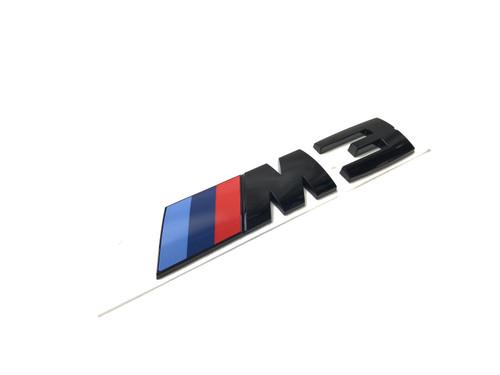 Genuine BMW M3 Black Trunk Lid Emblem Badge 51148068580