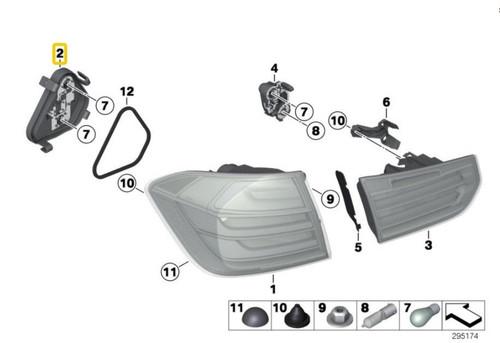 GENUINE OEM BMW X3 E83 E83 LCI Third Brake Rear Light Tail Light Stop White