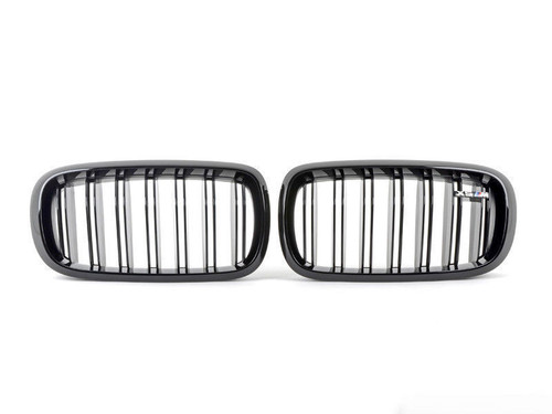 BMW 2014+ F15 F85 X5 M OEM X5 M Performance Front Gloss Black Grille Pair NEW