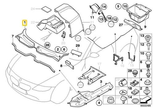 Genuine Bmw Z4 E85 E86 Windshield Wiper Motor Assembly Cover Cowl