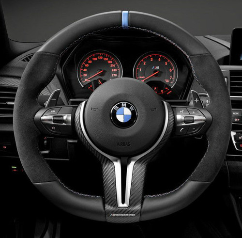 Genuine BMW Carbon Fiber M Performance Steering Wheel Cover