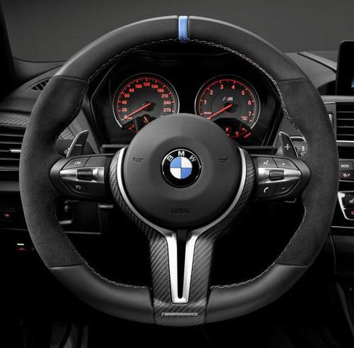 Genuine BMW Carbon Fiber M Performance Steering Wheel Cover