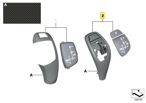 Genuine BMW Automatic Shift Knob Trim - Carbon Fiber