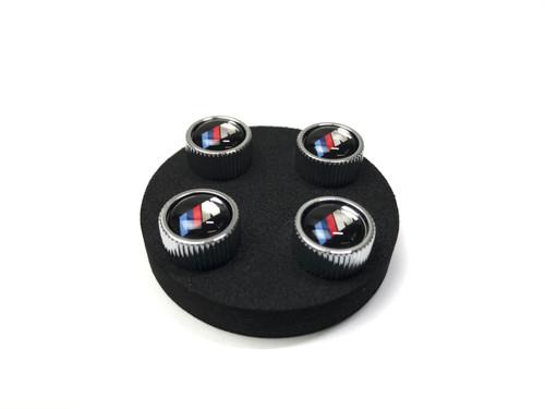 Genuine BMW M Logo Valve Stem Caps Set of 4 36110421543