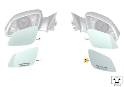 Genuine BMW Heated Mirror Glass - Right 51167285010