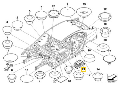 Genuine BMW Jack Pad Support 51717123311