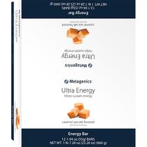 Metagenics Ultra Energy Bar Caramel Sea Salt 12 bars - 660 Grams