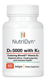NutriDyn D3 5,000 with K2 - 60 Softgels