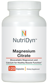 NutriDyn Magnesium Citrate - 120 capsules