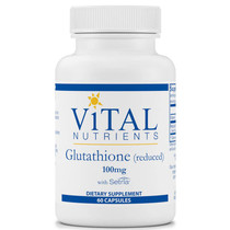 Vital Nutrients Glutathione (Reduced) 100mg60 capsules