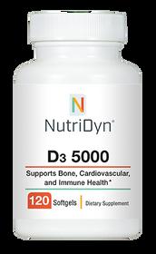 NutriDyn D3 5000 - 120 softgels capsules