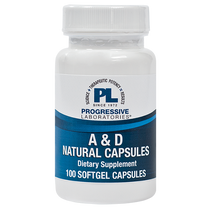 Progressive Labs A & D Natural Capsules - 100 Softgels
