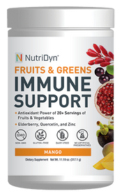 NutriDyn Fruits & Greens Immune Support - Mango - 317 Grams