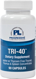 Progressive Labs Tri-40 Iodine - 90 Capsules