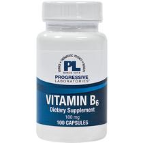 Progressive Labs Vitamin B6 100 Mg - 100 Capsules