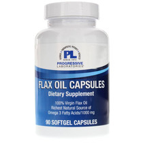 Progressive Labs Flax Oil Capsules - 90 Softgels