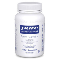 Pure Encapsulations Acetyl-l-Carnitine 500 Mg - 60 Capsules