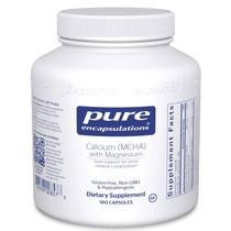 Pure Encapsulations Calcium (MCHA) with Magnesium - 180 Capsules