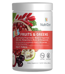 NutriDyn Kids Fruits & Greens Daily Drink Fruit Punch Flavor - 10.45 Oz