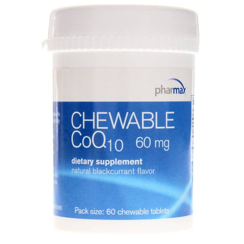 Pharmax Chewable CoQ10 60 Mg Blackcurrant Flavor - 60 Chewable Tablets