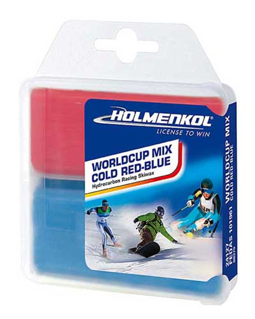 Holmenkol World Cup Mix Cold Red-Blue Wax