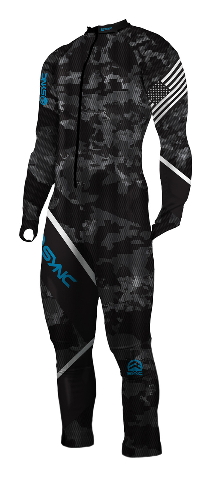 Sync National JR GS Race Suit (Stealth / Blue)