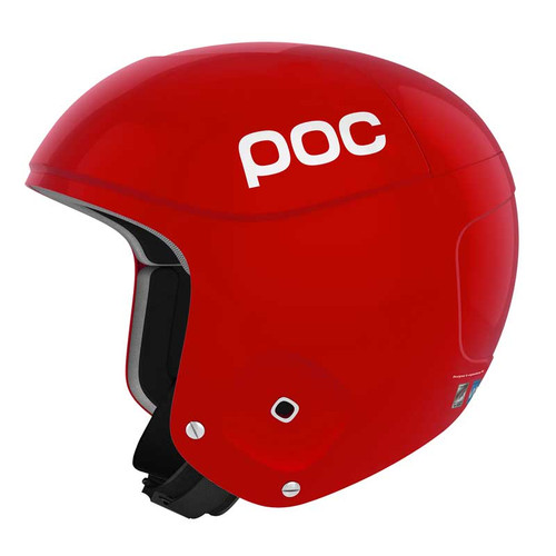 POC Skull Orbic X Helmet FIS Legal Ski Helmet in Bohrium Red