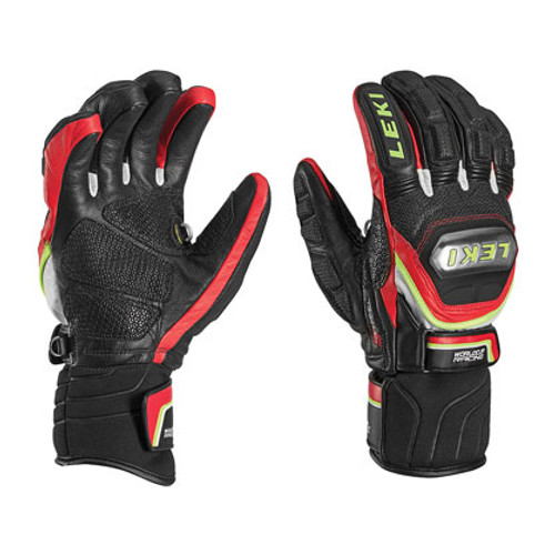 Leki World Cup Race Titanium S Gloves - Black/Red
