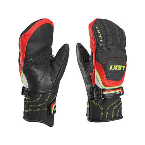 Leki World Cup Race Flex S Jr Mittens - Black/Red