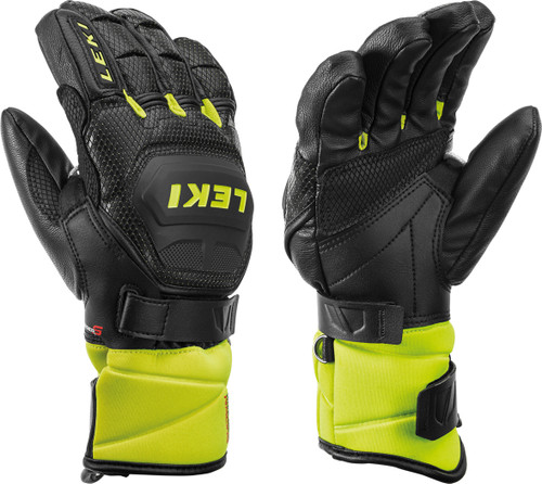 Leki World Cup Race Flex S Jr Glove Black/Lemon