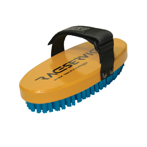 RaceService 1 Oval Blue Nylon Wax Brush