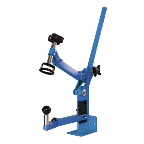 Manual Boot Press With Articulating Arms and Dies
