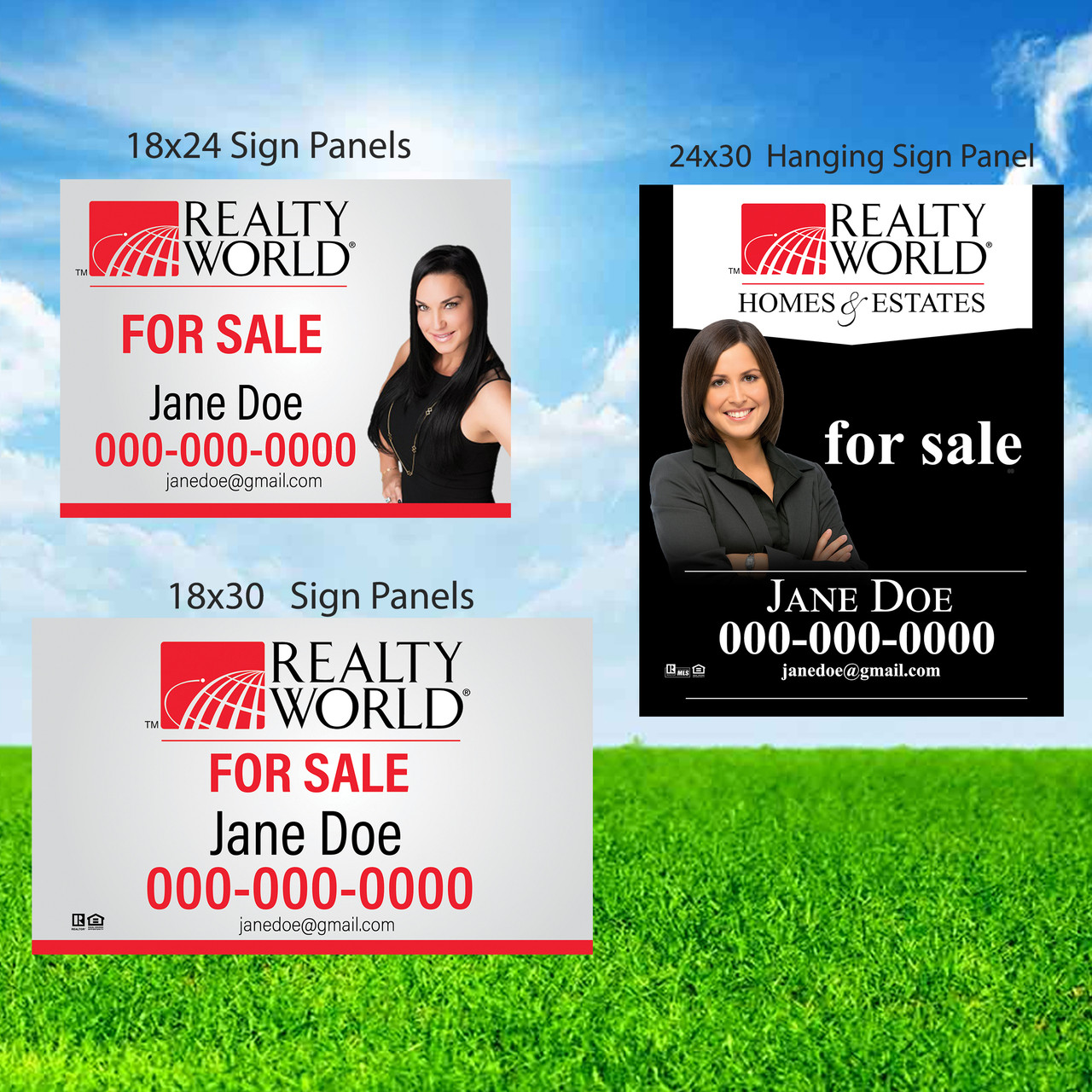 Realty World Sign Panles