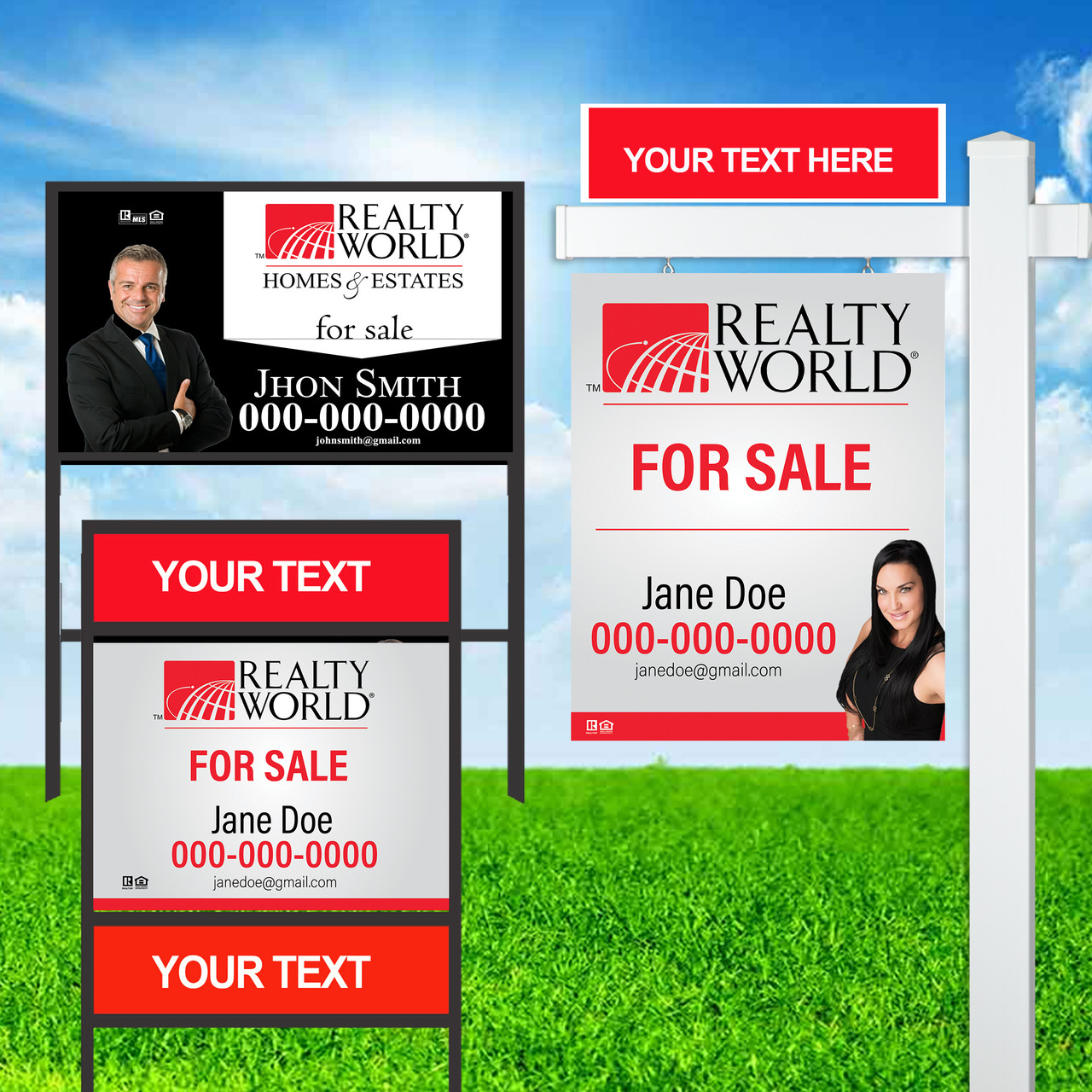 Realty World Signs